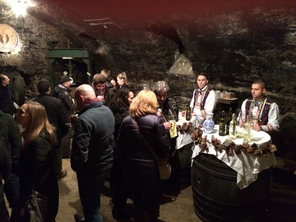 A wine tour cellar in Vinosady village